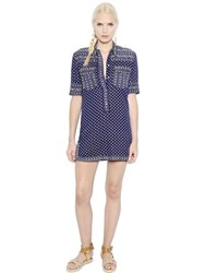 Etoile Isabel Marant Floral Printed Light Cotton Poplin Dress