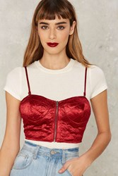 Big Love Satin Bustier Top Red