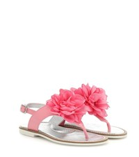 Monnalisa Patent Leather Sandals Pink