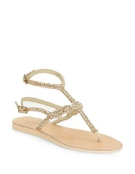 Cocobelle Nevis Beaded Sandals Natural