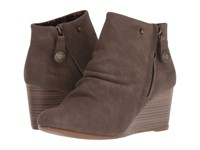 Blowfish Berkeley Mushroom Rustic Faux Suede Pull On Boots Gray