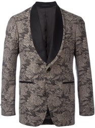 Gabriele Pasini Floral Embroidered Blazer Brown