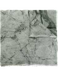 Lost And Found Marble Print Scarf Grey