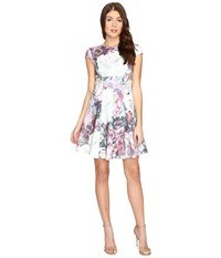 Ted Baker Mah Illuminated Bloom Skater Dress Purple Women's Dress