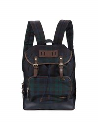 Fred Perry Plaid Canvas Rucksak Backpack Ivy