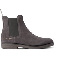 Common Projects Suede Chelsea Boots Gray