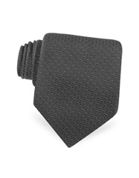 Christian Dior Dotted Logo Woven Silk Tie Black