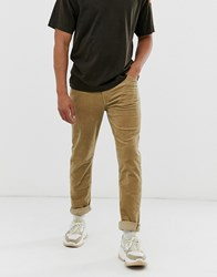 Weekday Sunday Tapered Cord Chinos In Beige