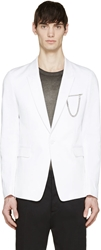 Diesel Black Gold White Twill Jup Chain Tailored Blazer