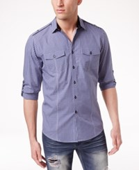 Inc International Concepts Men's Barnes Checked Long Sleeve Shirt Only At Macy's Ink Berry