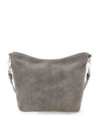 Steve Madden Safia Textured Hobo Charcoal Grey