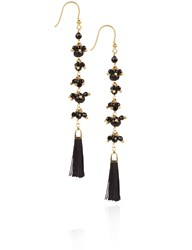 Rosantica Black Beaded Etna Earrings