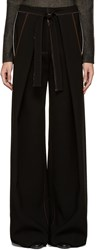 Proenza Schouler Black Baggy Trousers
