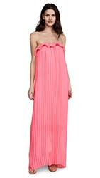 Loyd Ford Strapless Maxi Dress Fuchsia