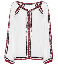 Anna Kosturova Medina Crochet Cotton Top White