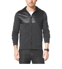 Michael Kors Quilted Nylon And Wool Jacket Concrete