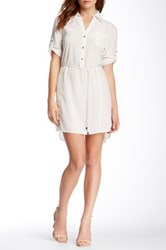 Zoa Two Pocket Shirt Dress White