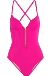 Agent Provocateur Zipped Swimsuit Pink
