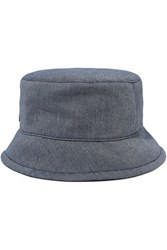 Maison Michel Axel Denim Bucket Hat Navy