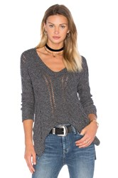 27 Miles Malibu Modanna V Neck Sweater Gray