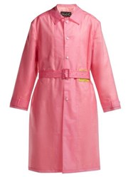 Martine Rose Utopia Patch Frosted Raincoat Pink