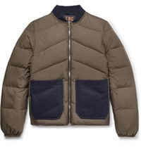 The Workers Club Reversible Quilted Shell Down Jacket Green