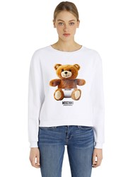 Moschino Teddy Bear Print Cotton Sweatshirt
