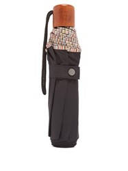 Paul Smith Stripe Print Telescopic Umbrella Black