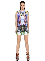 Dsquared Exotic Print Stretch Cotton Poplin Dress