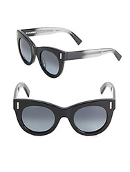 Boucheron 48Mm Ombre Rounded Sunglasses Black