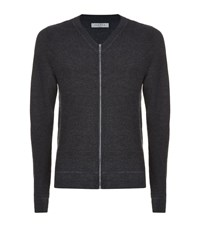 Sandro Drive Zip Sweater Male Grey