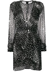 Jovonna Star Print Mini Dress Black