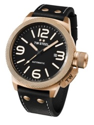 Tw Steel Canteen Automatic Rose Gold Stainless Steel Watch Black Gold