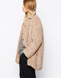 The Laden Showroom X Paisie Teddy Bear Faux Fur Coat Tan