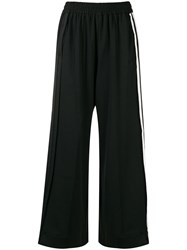 Y 3 Wide Leg Track Pants Black
