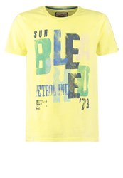 Petrol Industries Print Tshirt Pine Apple Yellow