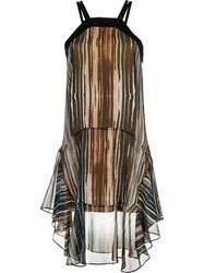 Barbara Bui Layered Dress Brown