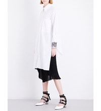 Sharon Wauchob Sequin Embellished Cotton Shirt Dress White
