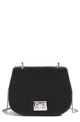 Whiting And Davis Bubble Mesh Saddle Bag