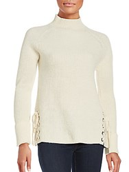 French Connection Solid Wool Blend Sweater Classic Cream