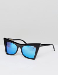 Wildfox Couture Ivy Deluxe Mirror Lens Sunglasses Black