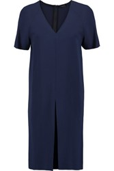 Joseph Odin Pleated Cady Dress Navy
