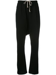 Rick Owens Drkshdw Dropped Crotch Track Pants Black