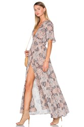 House Of Harlow X Revolve Blaire Wrap Maxi Taupe