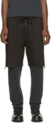 3.1 Phillip Lim Black Layered Lounge Pants