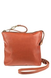 Will Leather Goods 'Petal' Leather Crossbody Bag Brown Cognac