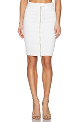 7 For All Mankind Front Zip Pencil Skirt White