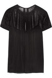 Marc By Marc Jacobs Pleated Silk Georgette Top Black