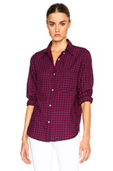 Etoile Isabel Marant Isabel Marant Etoile Ramon Check Shirt In Red Checkered And Plaid