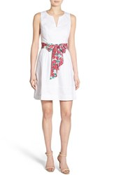 Women's Vineyard Vines 'Run For The Roses' Floral Sash Sleeveless Dress